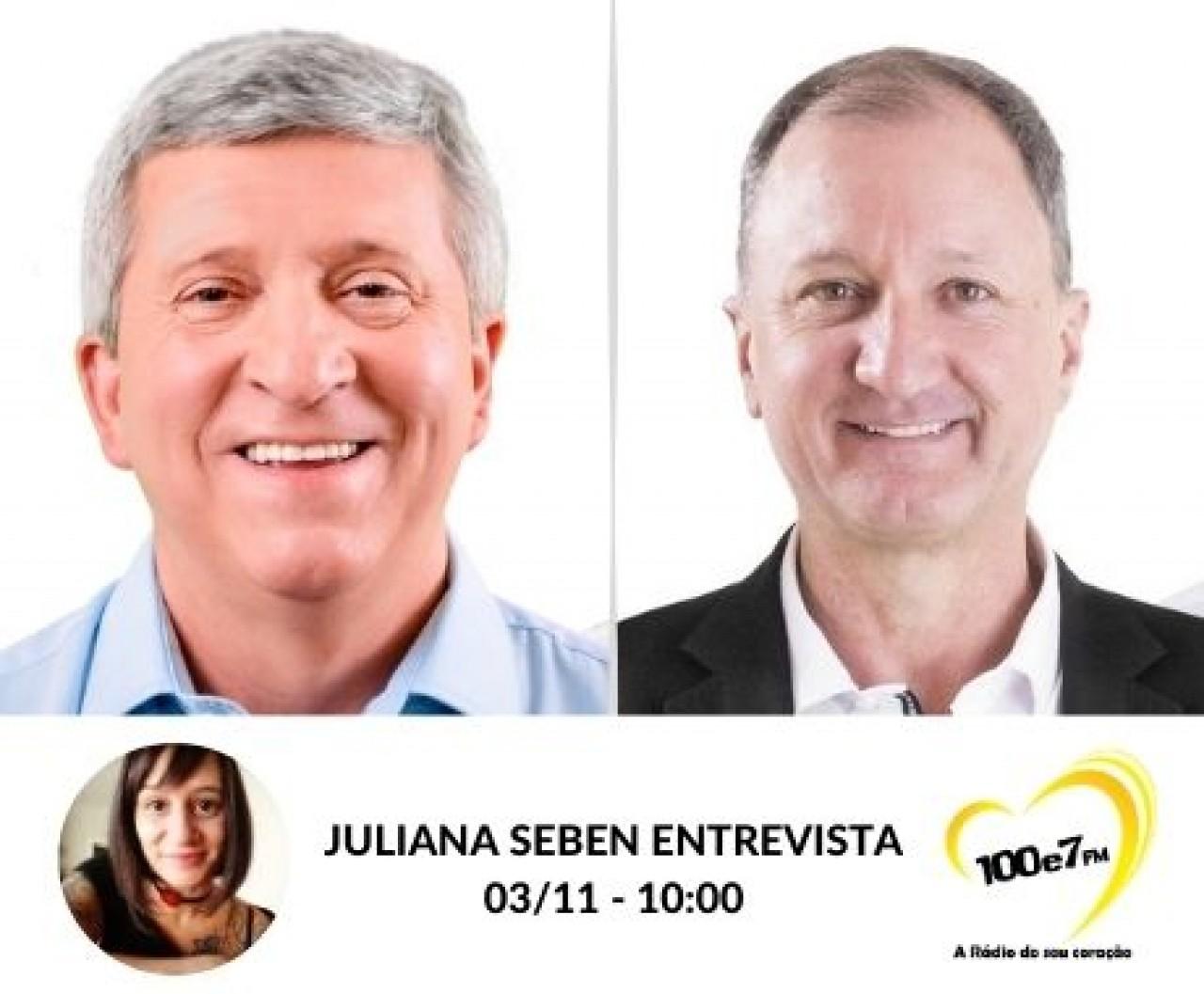 100e7 entrevista os candidatos a Prefeito de Tapejara