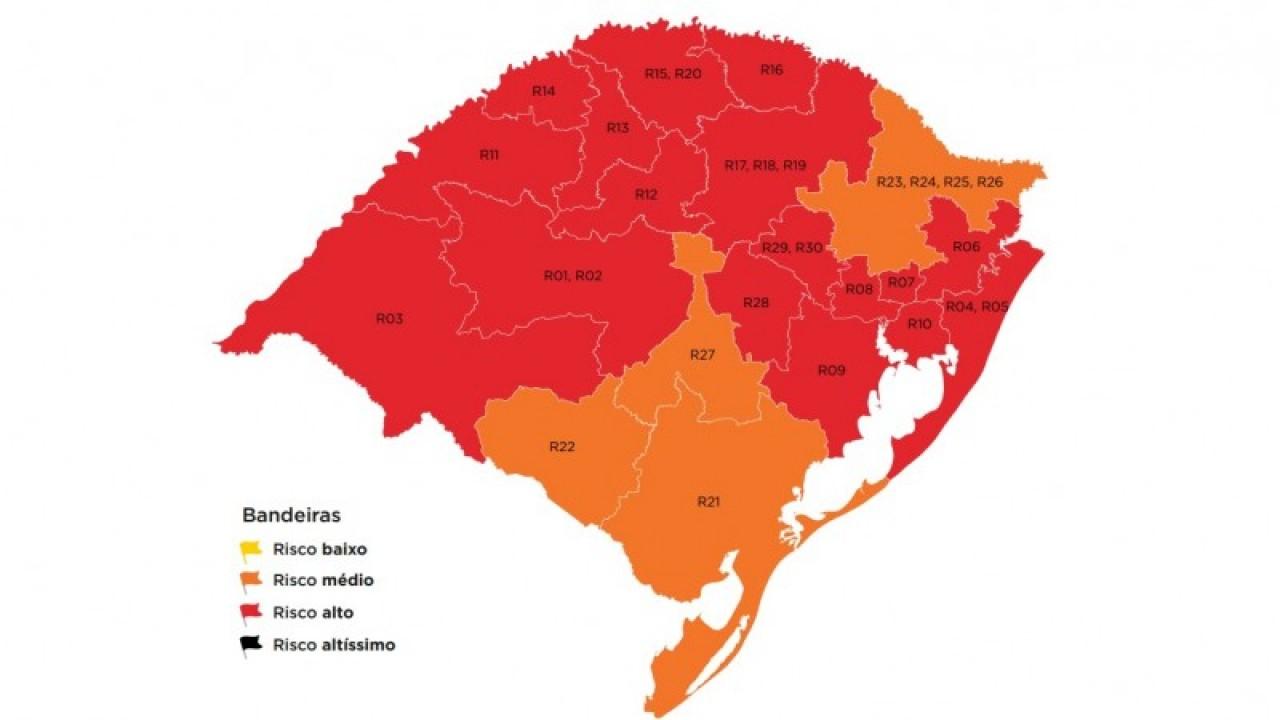 Tapejara segue em bandeira vermelha no Mapa Preliminar do RS